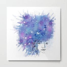 Blues on head Metal Print