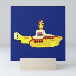 We all live in a yellow submarine Mini Art Print