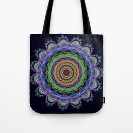 Fantasy crochet flower Tote Bag