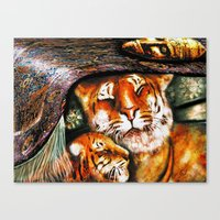 persian Canvas Prints featuring PERSIAN TIGER by ShekariArt