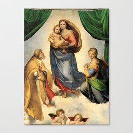 Madonna Sixtina by Rafael Canvas Print