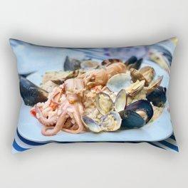 Seafood risotto Rectangular Pillow