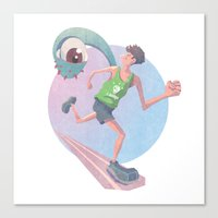 runner Canvas Prints featuring Runner by J.M. Benga