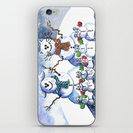 It's Snowing Cats and Dogs (and Mice too) iPhone Skin