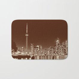 Downtown Toronto Vintage Wall paper Bath Mat