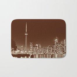 Downtown Toronto Vintage Wall paper Bath Mat