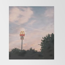 the golden arches Throw Blanket