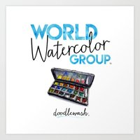 World Watercolor Group™ Badge with Watercolor Palette Art Print