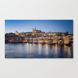 Prague Castle and Charles Bridge Canvas Print