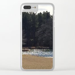 Water diamonds Clear iPhone Case