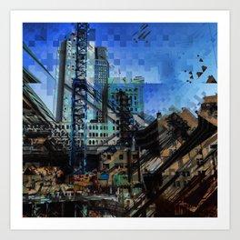 Montreal urbania Art Print