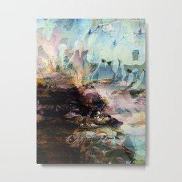 Morning Seashore Abstract Metal Print