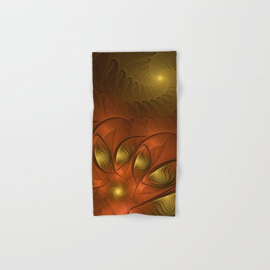 Fantasy in Copper and Gold Hand & Bath Towel