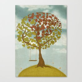 All Seasons Tree Canvas Print