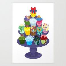 The Princess Cupcake Collection II Art Print