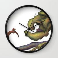 iron giant Wall Clocks featuring GIANT by Guillem Font