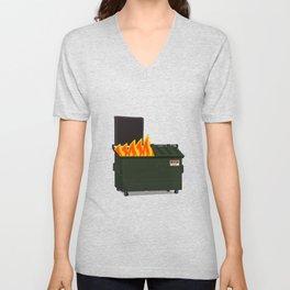 Dumpster Fire Unisex V-Neck