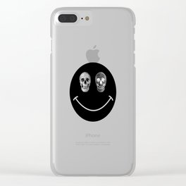 Just keep smiling Clear iPhone Case