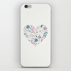 Floral Heart - in Cream iPhone & iPod Skin