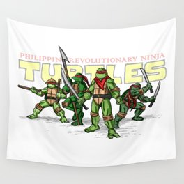 Philippine Revolutionary Ninja Turtles Wall Tapestry