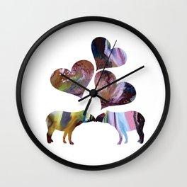 Tapir Art Love Wall Clock