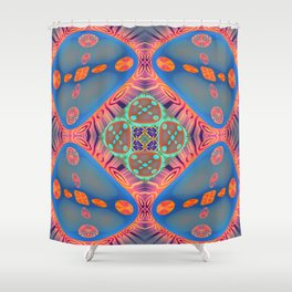 Glowing Abstract Landscape Shower Curtain