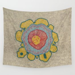 Growing - Pinus 1 - plant cell embroidery Wall Tapestry