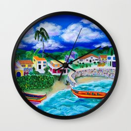 Afternoon in Puerto Rico Wall Clock