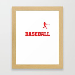 Pitcher Batter League Tournament Baseball Players The Evolution Of Baseball Gift Framed Art Print