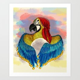 Arara Gypsy  Art Print