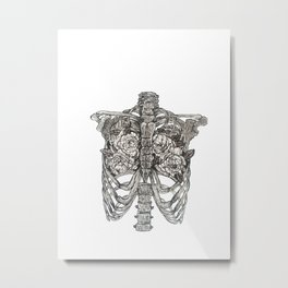 anatomy of an artist, between two lungs Metal Print