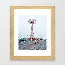 Coney Island: Parachute Jump Framed Art Print
