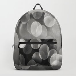 Bokeh Light In Black And White #decor #society6 Backpack
