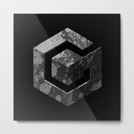 GameCube - Colorless Metal Print