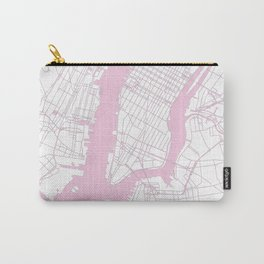 New York City White on Pink Carry-All Pouch