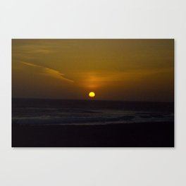 Sunset across the Ocean Canvas Print