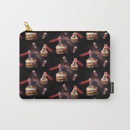 Space Laser Cat On Flame Grilled Veggie Burger Carry-All Pouch