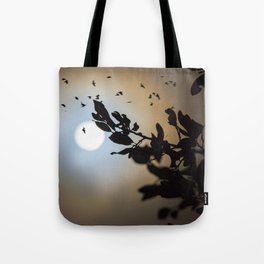 Bats in a Full Moon on Halloween Tote Bag