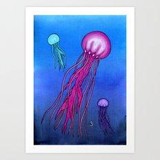 Colorful Jellies Art Print