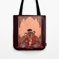 jjba Tote Bags featuring magician by vvisti