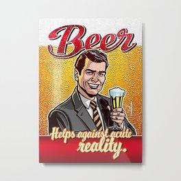 Vintage Beer Advert - Circa 1940 Metal Print