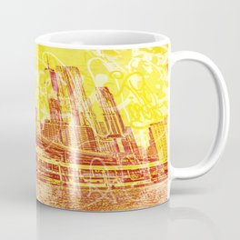 big yellow apple Coffee Mug