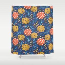Night Bloom Shower Curtain