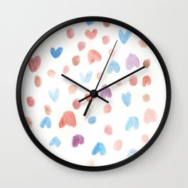 171122 Watercolour Pattern 1 Wall Clock
