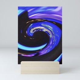 Swirling colors 01 Mini Art Print