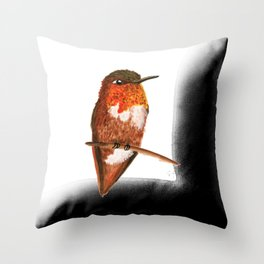 Allen's Hummingbird Throw Pillow