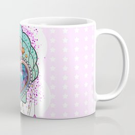 Kawaii Crystal Heart and SHell Coffee Mug
