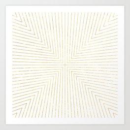 Converge Four Gold Art Print