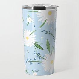 chamomile pattern Travel Mug