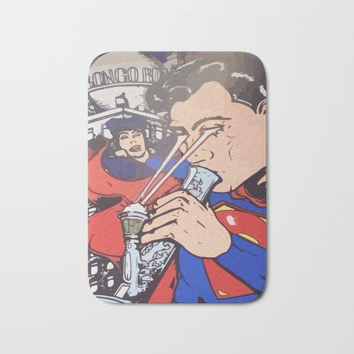 Super man bong dope Bath Mat